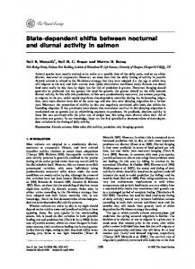State-dependent shifts between nocturnal and diurnal activity ... - NCBI