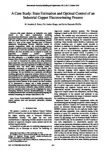 State Estimation and Optimal Control of an