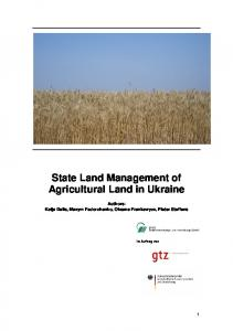 State Land Management of Agricultural Land in Ukraine