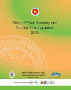 State of Food Security and Nutrition in Bangladesh 2015