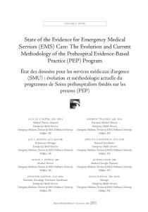 State of the Evidence for Emergency Medical Services (EMS) Care