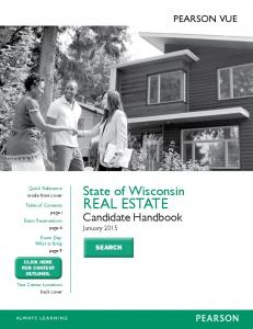 State Of Wisconsin real estate Candidate Handbook - Pearson VUE