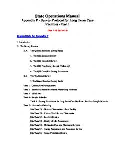 State Operations Manual Appendix P - Survey Protocol for Long