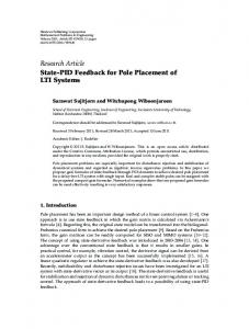 State-PID Feedback for Pole Placement of LTI Systems