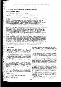 State space identification of linear deterministic ...
