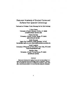 State-sum Invariants of Knotted Curves and Surfaces from Quandle ...