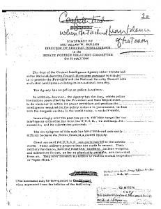 STATEMENT BY MR. ALLEN W. DULLES TO THE ... - CIA FOIA