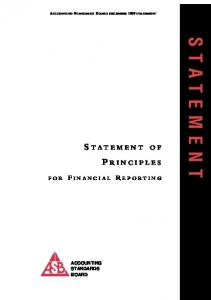 Statement of Principles for Financial Reporting