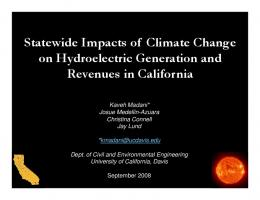 Statewide Impacts of Climate Change on ...