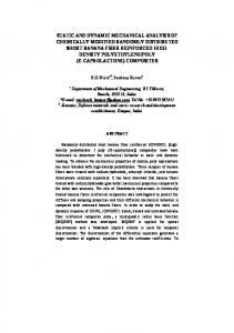 static and dynamic mechanical analysis of chemically
