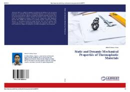 Static and Dynamic Mechanical Properties of