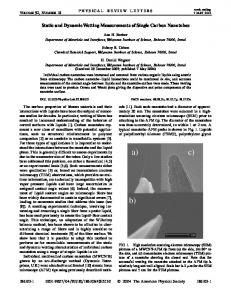 Static and Dynamic Wetting Measurements of