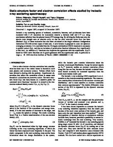 Static structure factor and electron correlation effects studied by ...