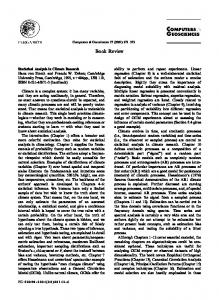 Statistical Analysis in Climate Research Hans von ... - Manfred Mudelsee
