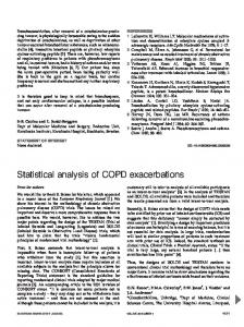 Statistical analysis of COPD exacerbations - European Respiratory
