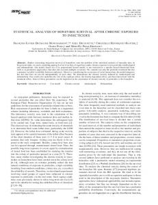 statistical analysis of honeybee survival after chronic exposure to ...