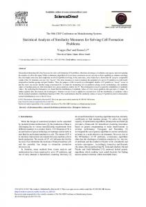 Statistical Analysis of Similarity Measures for ... - ScienceDirect.com