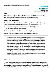 Statistical Analysis of the Performance of MDL