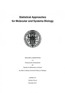 Statistical Approaches for Molecular and Systems