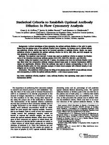 Statistical criteria to establish optimal antibody ... - Wiley Online Library