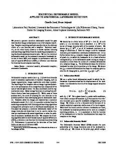 Statistical Deformable Model Applied to ... - Semantic Scholar