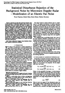 Statistical Disturbance Rejection of the ... - Semantic Scholar