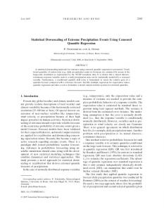 Statistical Downscaling of Extreme Precipitation Events Using