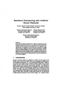 Statistical Downscaling with Artificial Neural ... - Semantic Scholar
