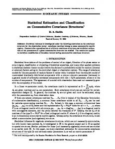 Statistical Estimation and Classification on ... - Springer Link