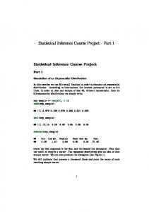 Statistical Inference Course Project - Part 1