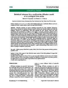 Statistical inference for a multivariate diffusion model of ... - ESA Journals