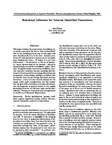 Statistical Inference for Interval Identified Parameters - CiteSeerX