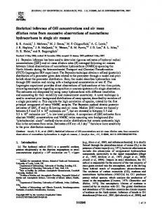 Statistical inference of OH concentrations and air mass ... - CiteSeerX