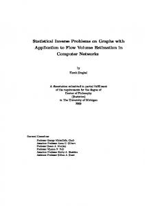 Statistical Inverse Problems on Graphs with Application to ... - CiteSeerX
