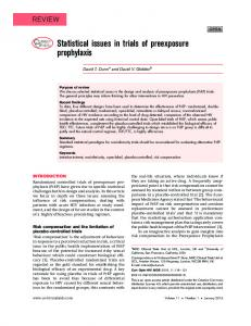 Statistical issues in trials of preexposure prophylaxis