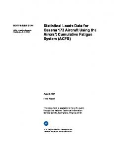 Statistical Loads Data for Cessna 172 Aircraft Using the Aircraft ...