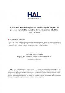 Statistical methodologies for modelling the impact of