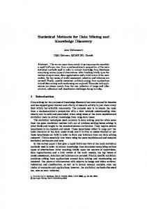 Statistical Methods for Data Mining and Knowledge ... - Springer Link