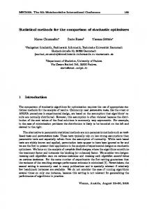 Statistical methods for the comparison of stochastic ... - Semantic Scholar