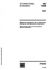 Statistical methods for use in proficiency testing by ...