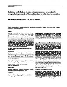 Statistical optimization of endo-polygalacturonase production by