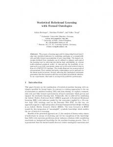 Statistical Relational Learning with Formal Ontologies