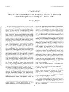 Statistical Significance Testing and Clinical Trials