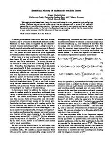 Statistical theory of multimode random lasers