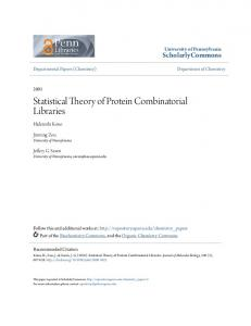 Statistical Theory of Protein Combinatorial Libraries - Semantic Scholar