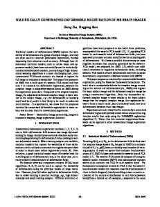 STATISTICALLY-CONSTRAINED DEFORMABLE REGISTRATION OF ...