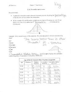 Stats Chap 2 notes - Mrs. Sapp - Home