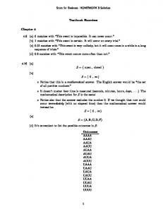 Stats for Business HOMEWORK 3 Solution Textbook Exercises ...
