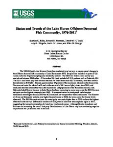 Status and Trends of the Lake Huron Offshore Demersal Fish ...
