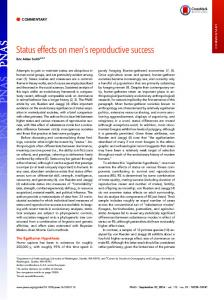 Status effects on men's reproductive success